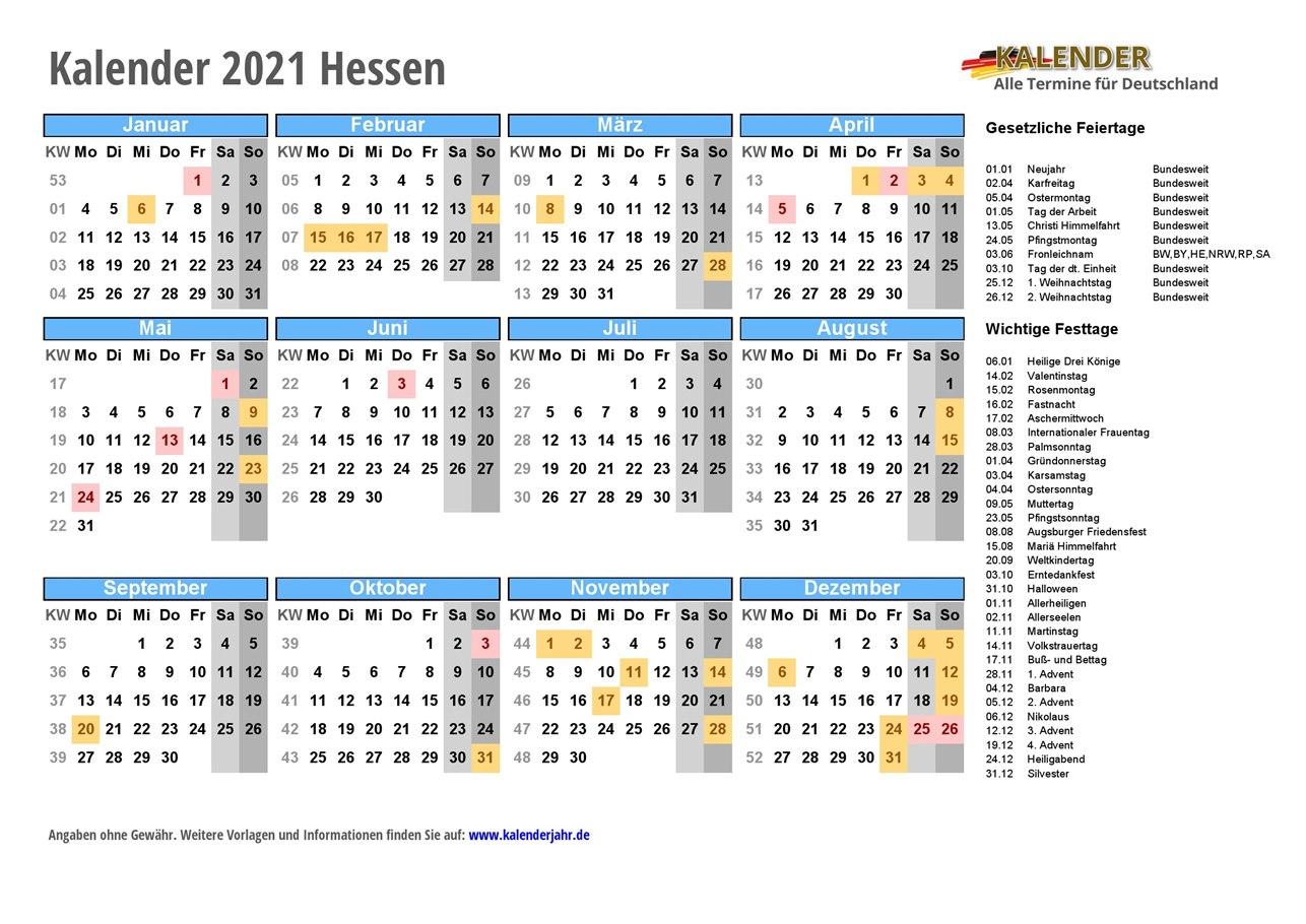 Hessen Feiertag 2021